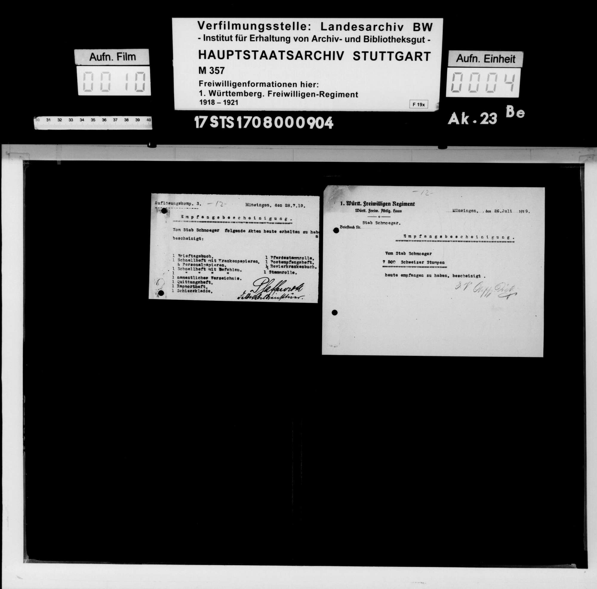 Verschiedene Angelegenheiten des II. Bataillons, Bild 2