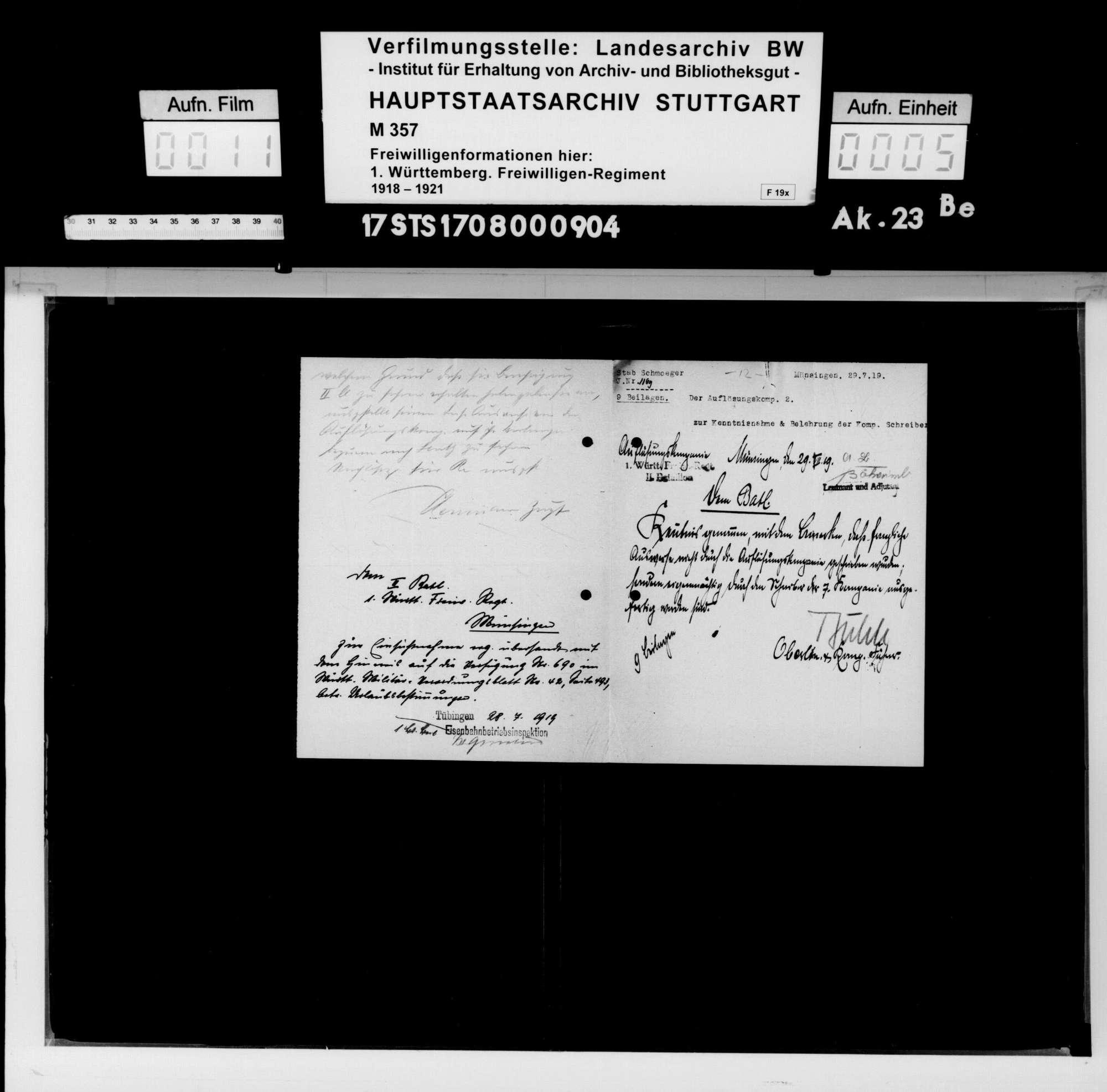 Verschiedene Angelegenheiten des II. Bataillons, Bild 3