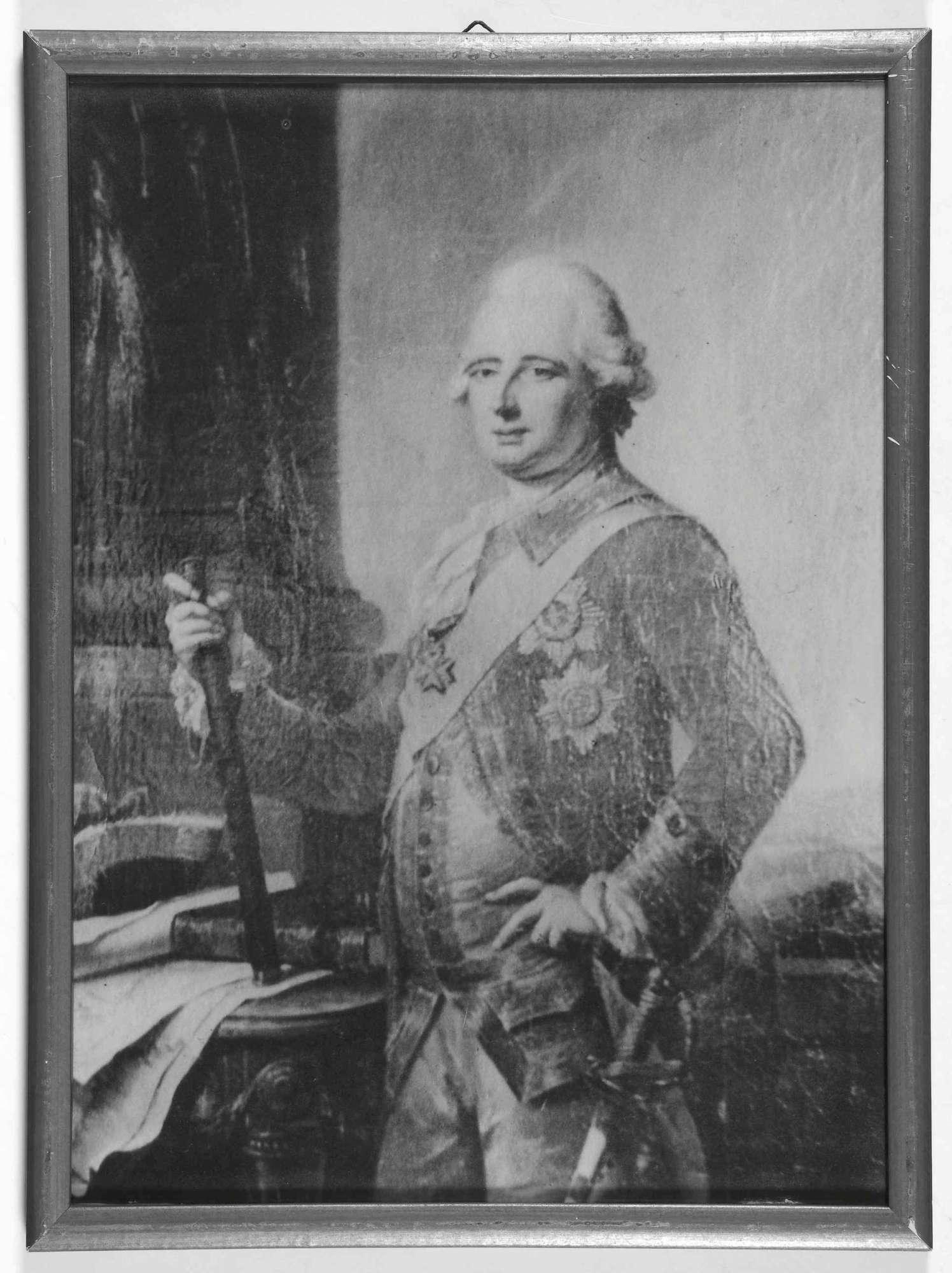 Herzog Wilhelm von Württemberg, Kriegsminister von 1806-1816 in Uniform, Schärpe und Orden eines Feldmarschalls, Bild in Halbprofil, Bild 1