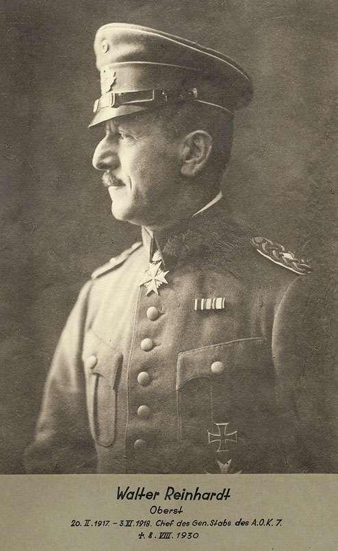 Walther Reinhard, Oberst, Chef des Generalstabs des Armee-Oberkommandos 7 in Uniform, Mütze mit Orden, Brustbild in Profil, Bild 1