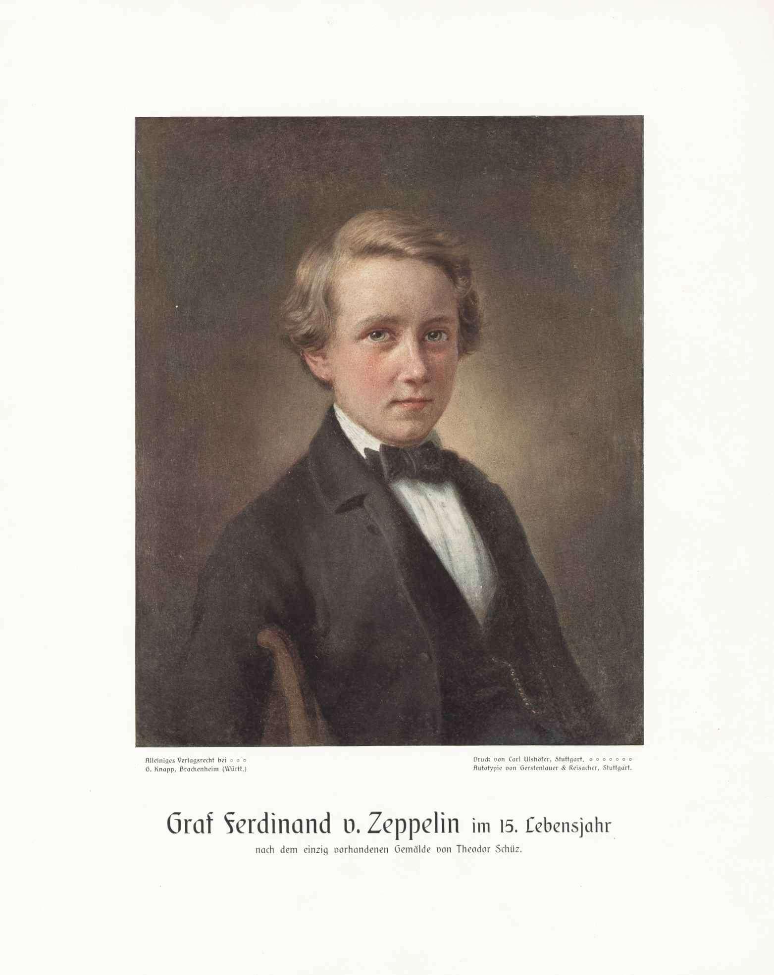 Graf Ferdinand von Zeppelin im Jugendalter (15. Lebensjahr), Bild 1