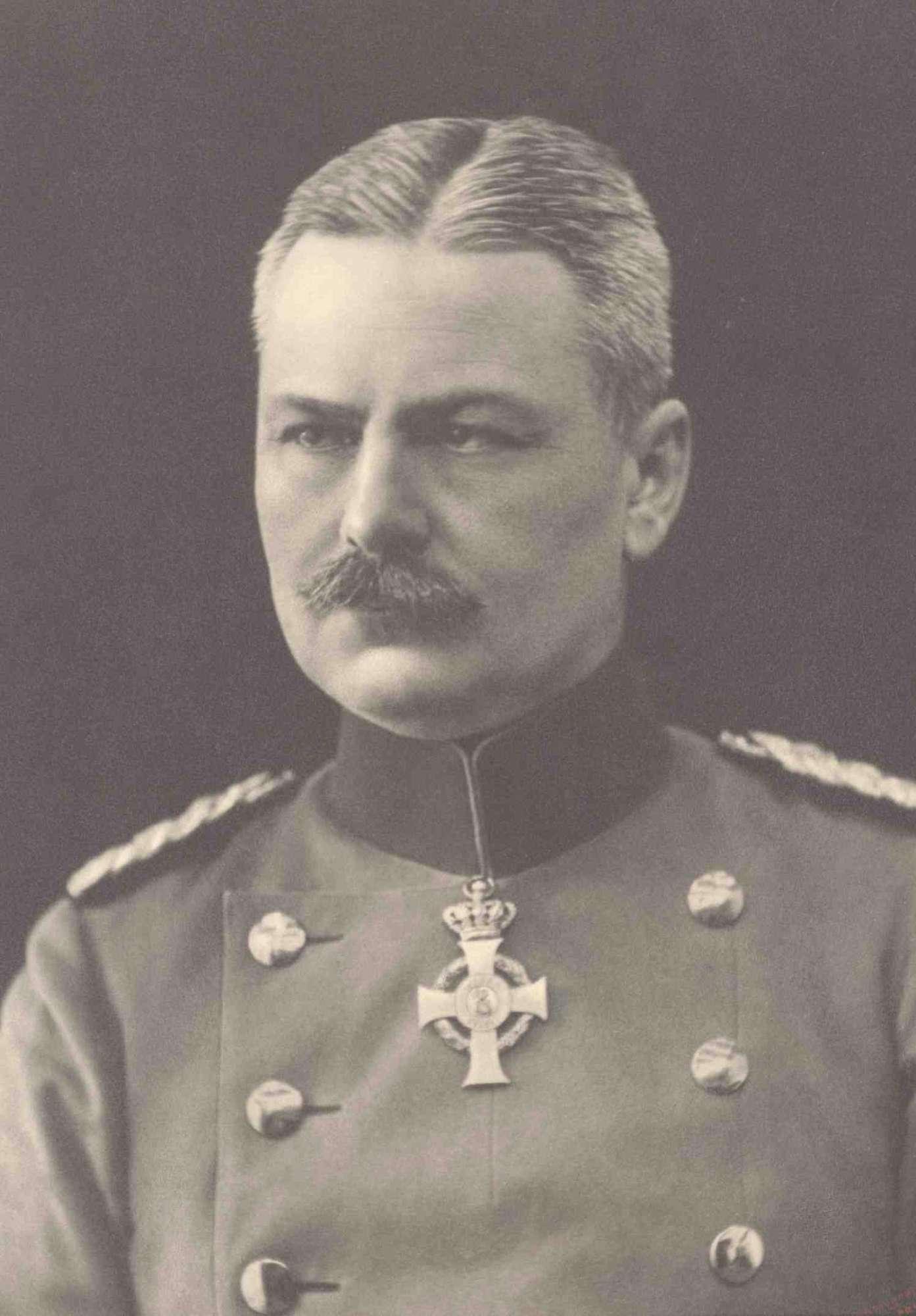 Otto von Moser, Oberst und Kommandeur des Regiments von 1910-1913, Brustbild, Bild 1