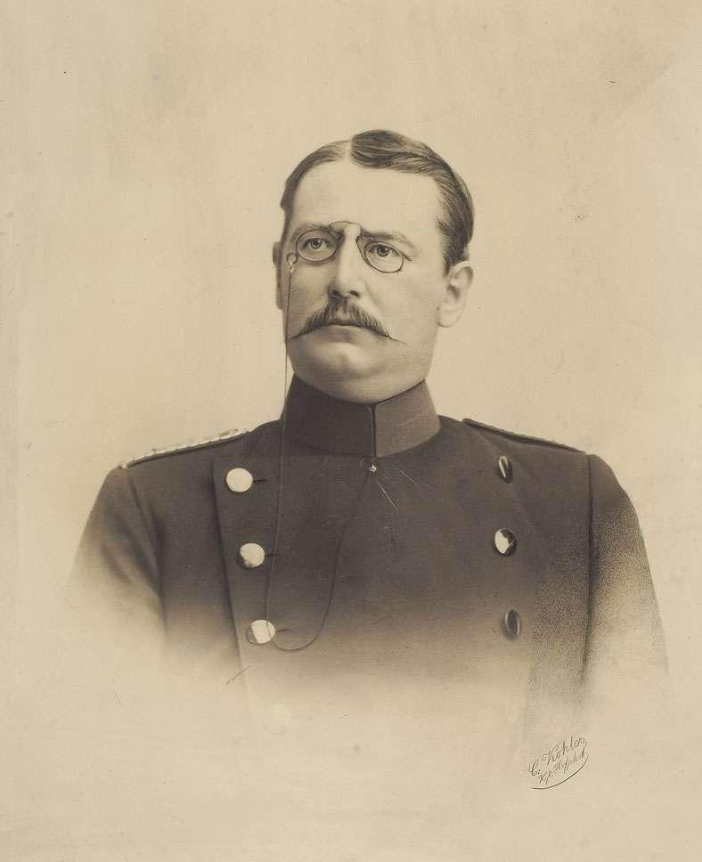 Julius Eugen Rau, Hauptmann, Brustbild, Bild 1
