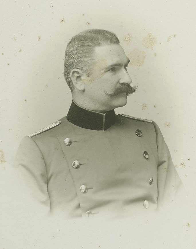 Bildersammlung, Offiziere der II. Abteilung des Regiments in Cannstatt, grösstenteils Brustbilder, Bild 1