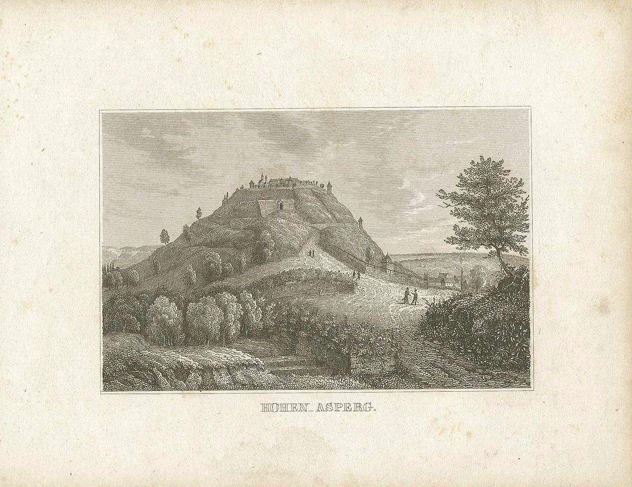 Festung Hohenasperg und von Norden herführende Strasse, Bild 1