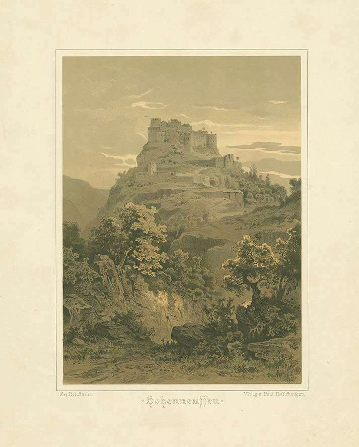 Festung Hohenneuffen mit Bastionen, Bild 1