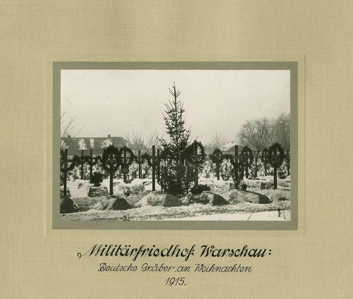Militär-Friedhof Warschau Einzelgräber deutscher Soldaten in ...