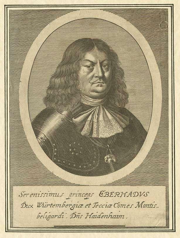 Eberhard III., Herzog von Württemberg (1614-1674), Brustbild in Halbprofil, Bild 1
