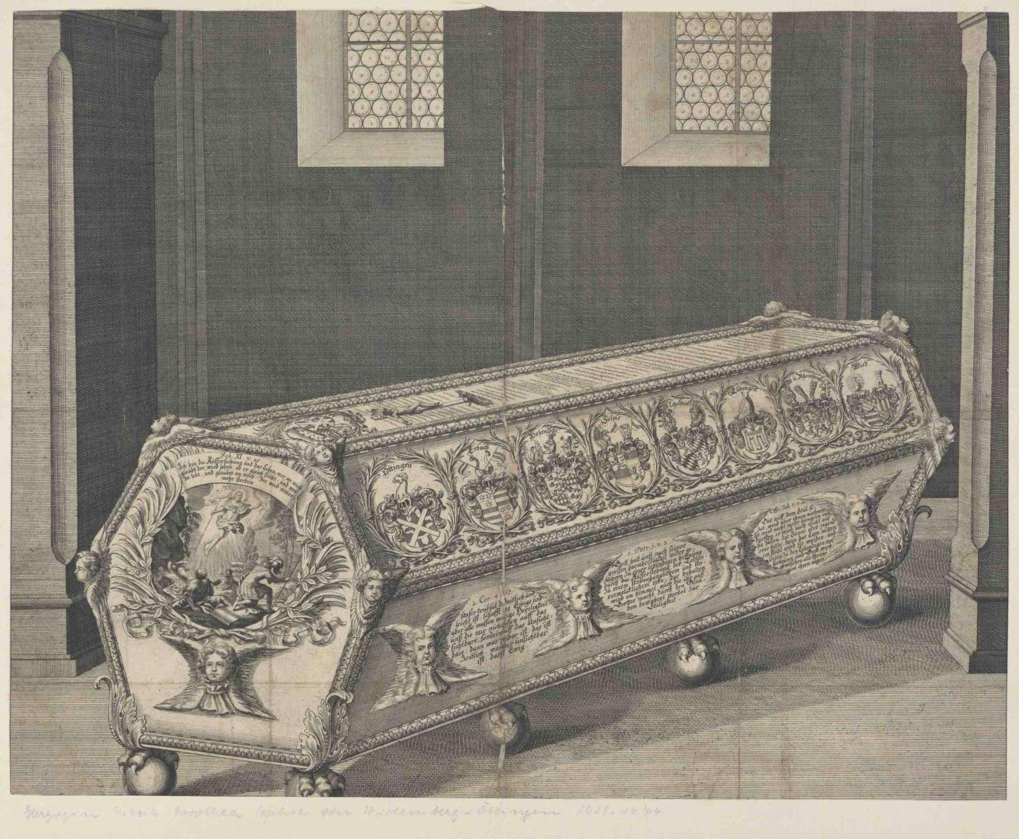 Sarkophag der Herzogin Maria Dorothea Sophia von Württemberg, reich verziert, Bild 1
