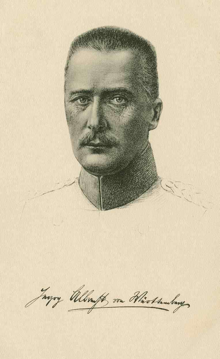 Herzog Albrecht von Württemberg in Uniform, Brustbild in Halbprofil, Bild 1