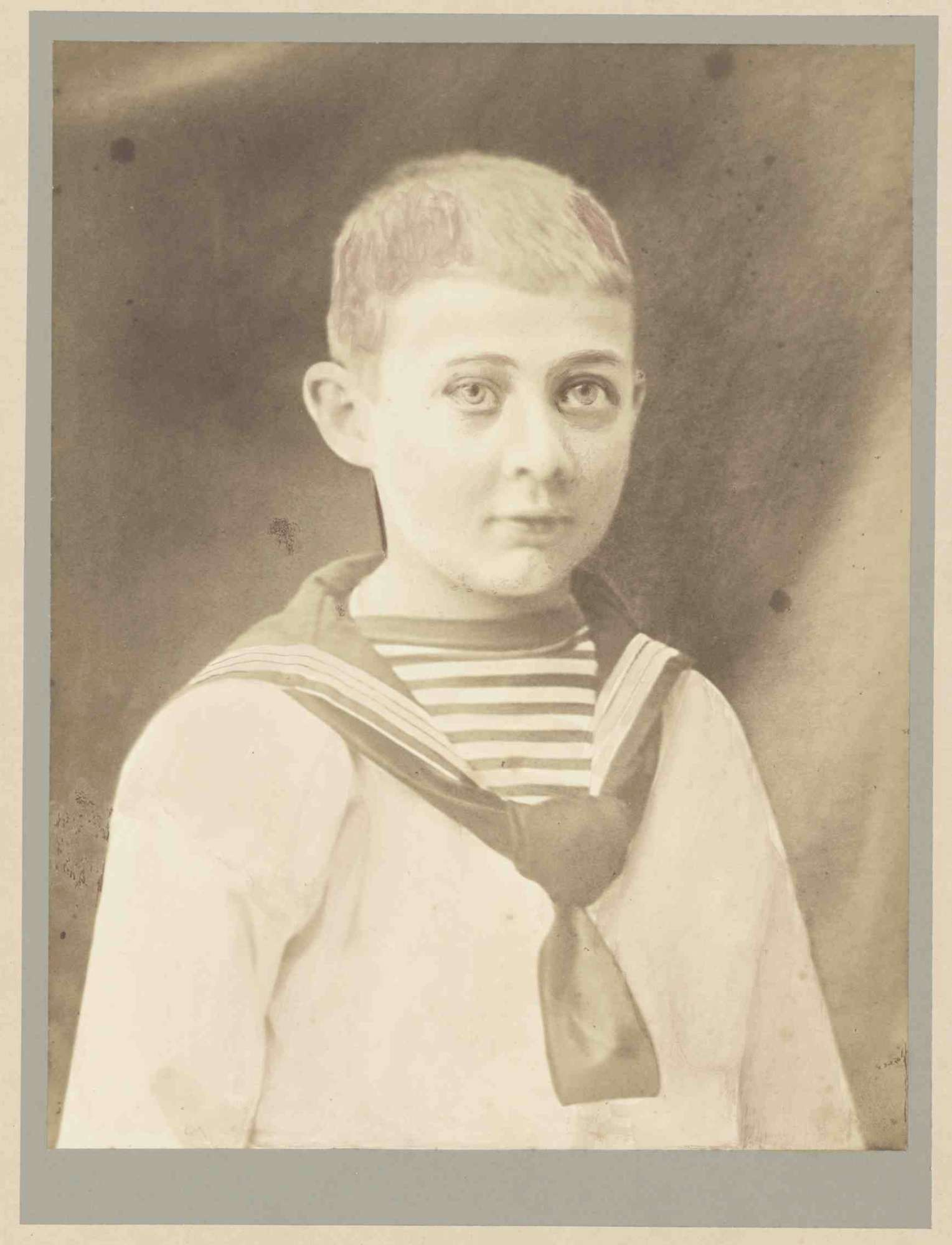 Prinz Alexander von Württemberg im Matrosenanzug (Jugendbild), Brustbild in Halbprofil, Bild 1