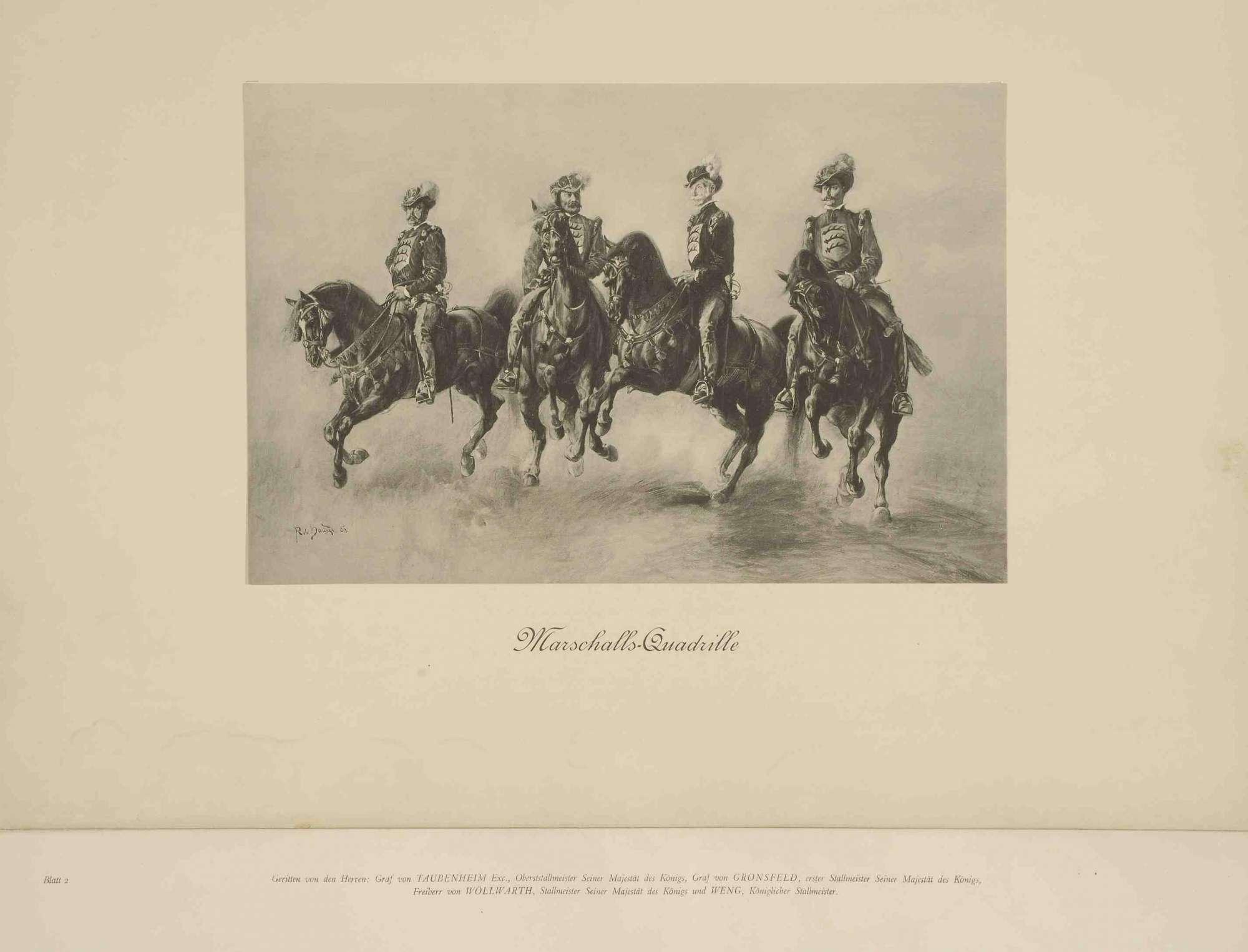 Vermählungsfeier von Prinz Wilhelm von Württemberg mit Prinzessin Charlotte von Schaumburg-Lippe am 28.04.1886, Erinnerungsblätter mit Vorwort und einer Identifizierung dargestellter Personen, Bild 2