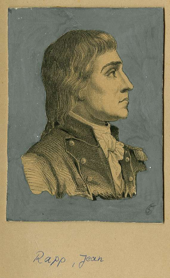 Graf Jean Rapp, elsässischer General, Brustbild in Profil, Bild 1