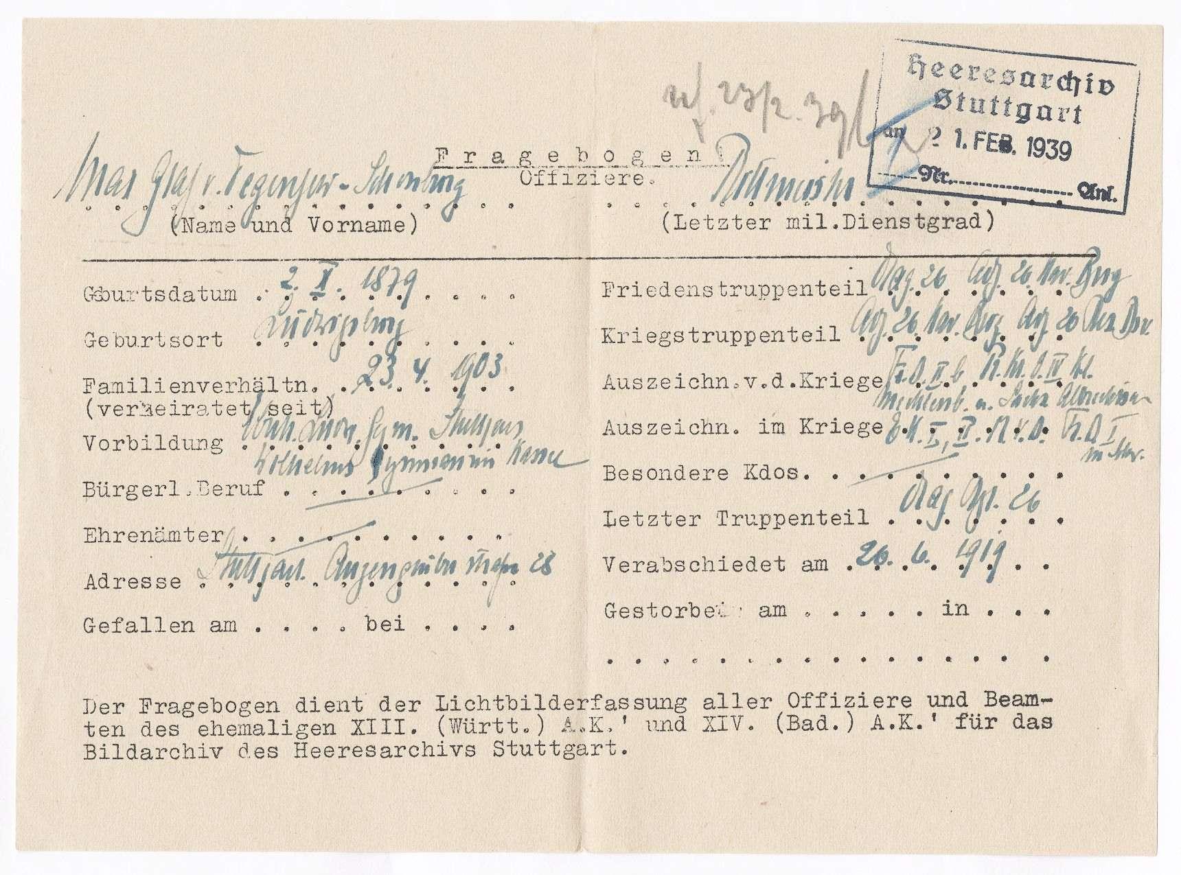 Degenfeld-Schonburg, Max von, Graf, Bild 2