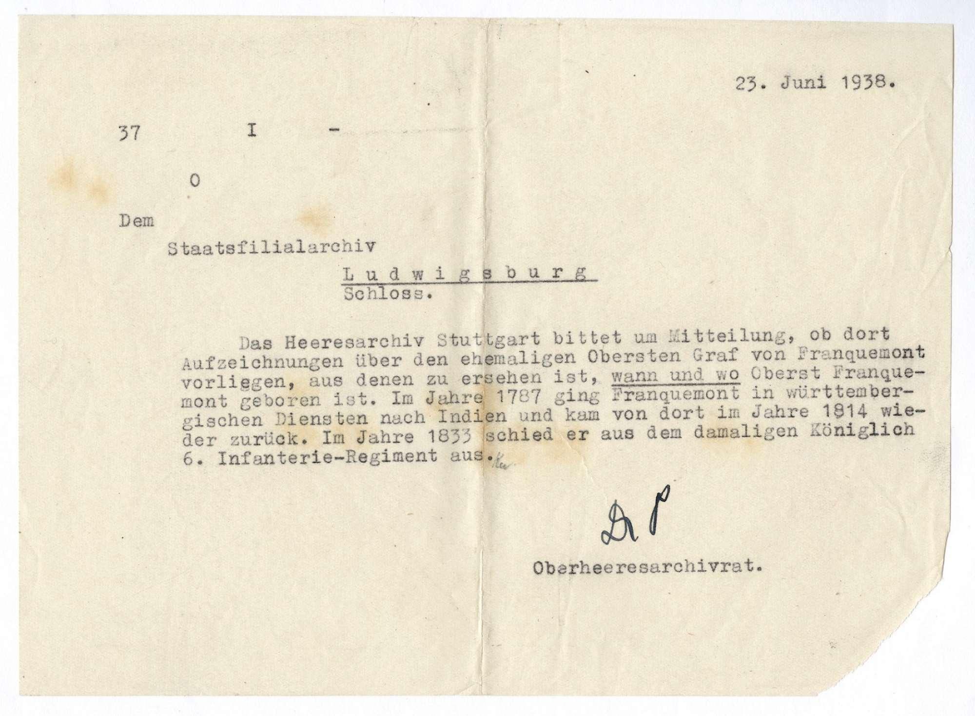 Franquemont, Graf von, Bild 2
