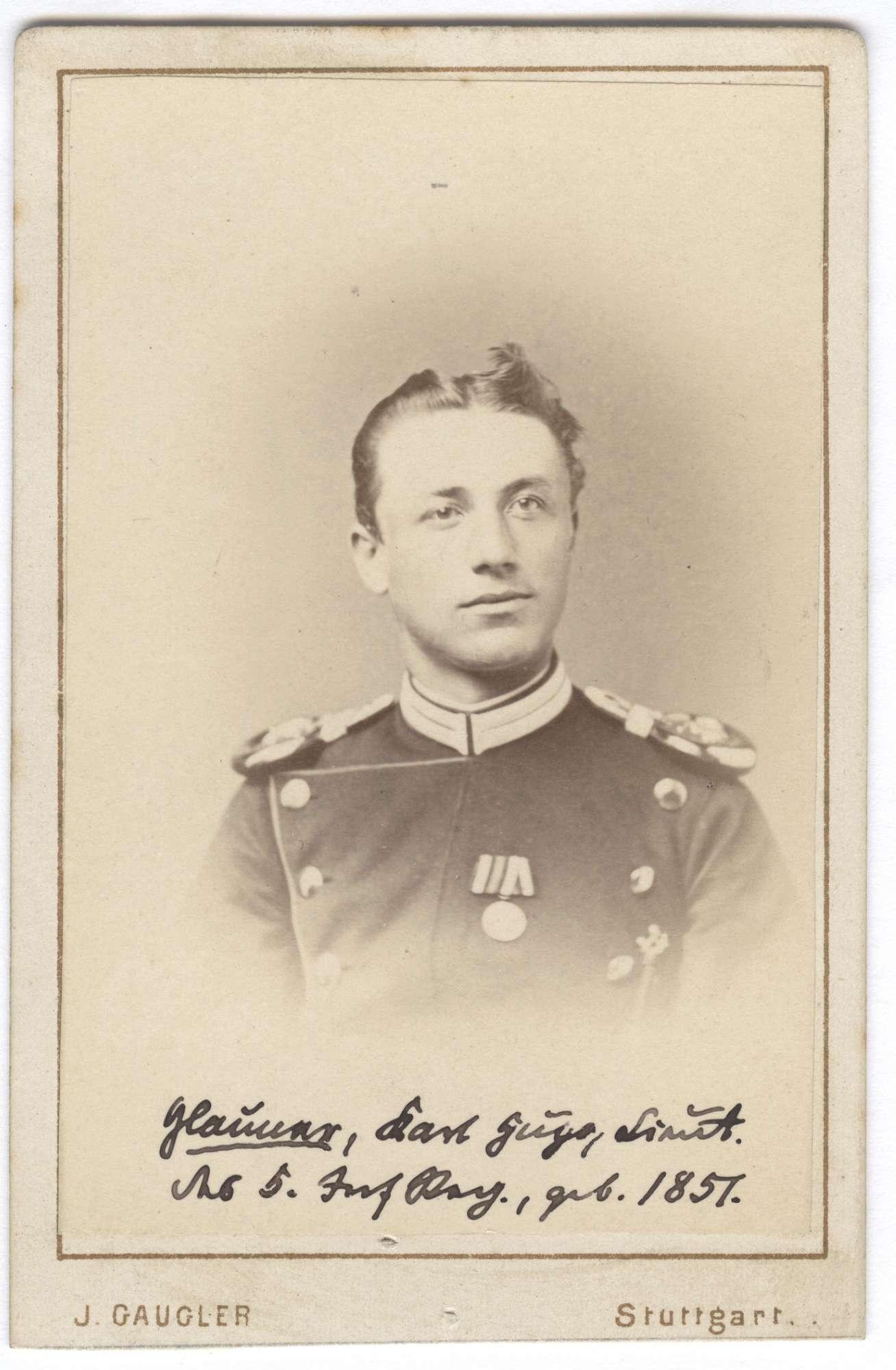 Glanner, Karl Hugo, Bild 1
