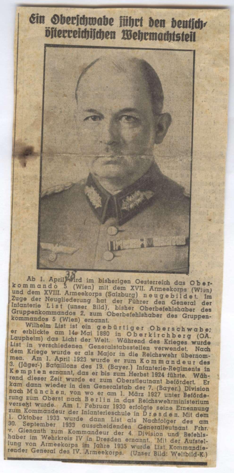 List, Wilhelm, Bild 1