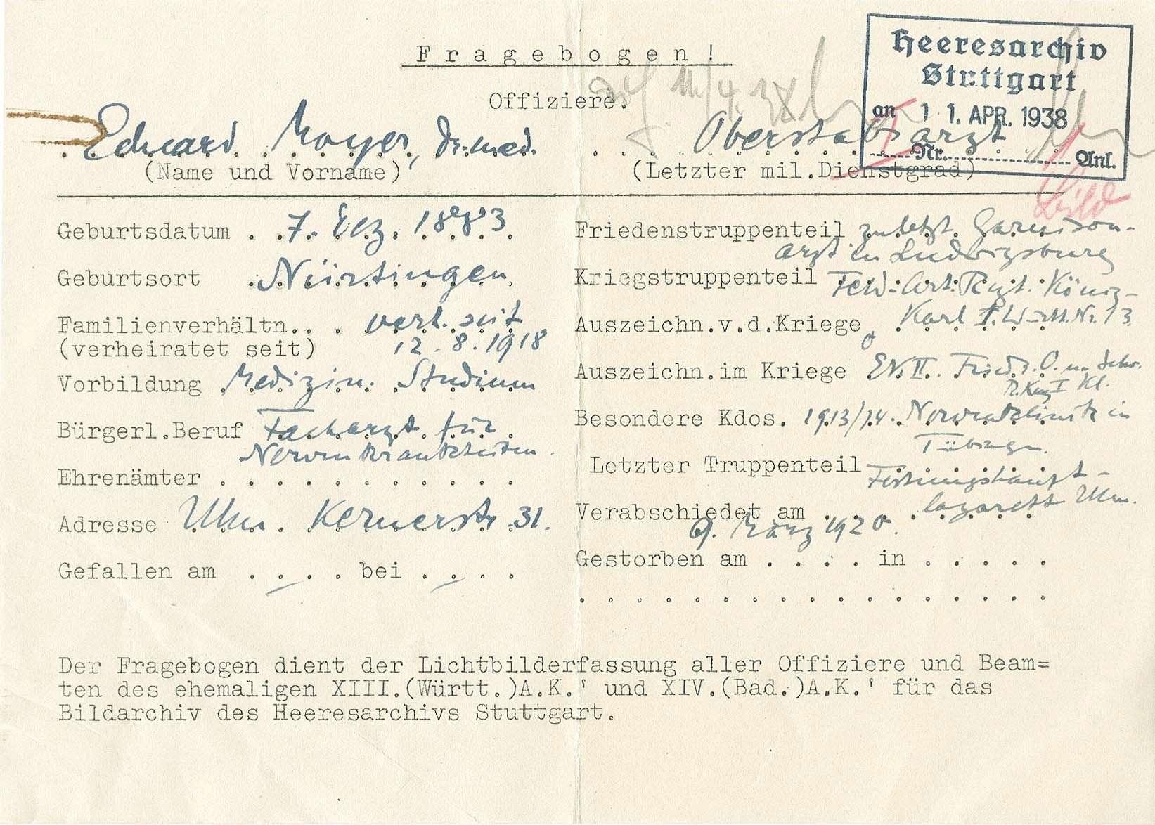 Mayer, Eduard, Dr.med., Bild 3