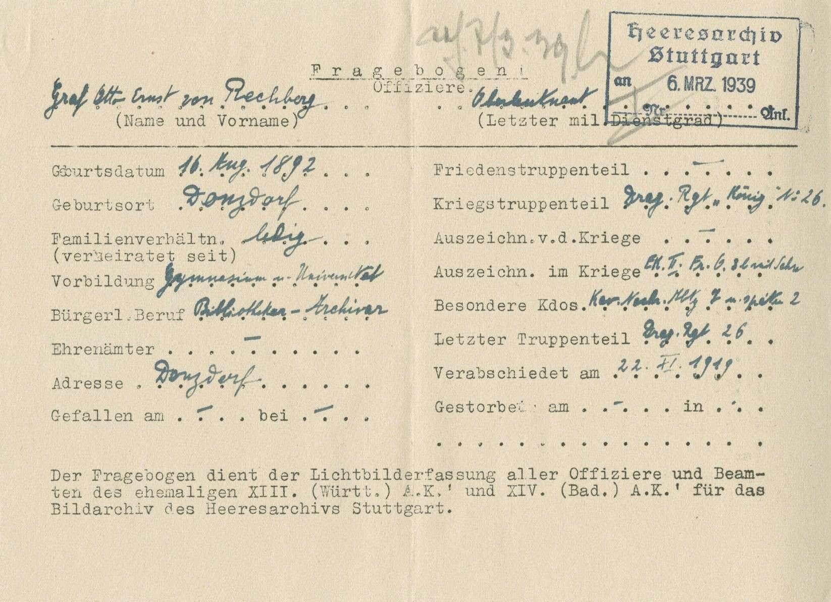 Rechberg, Otto Ernst von, Graf, Bild 2