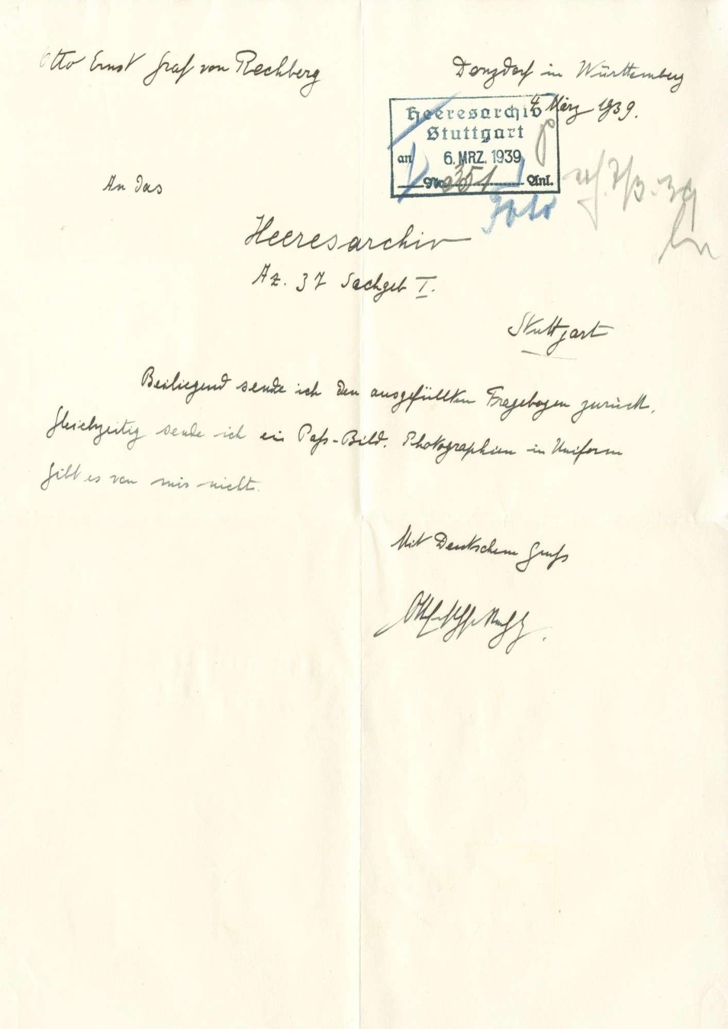 Rechberg, Otto Ernst von, Graf, Bild 3
