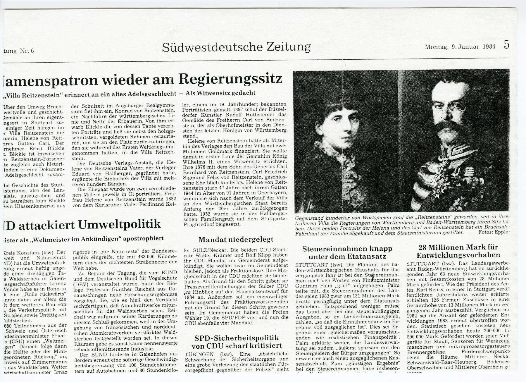 Reitzenstein, Karl Friedrich Felix Sigismund von, Freiherr, Bild 3