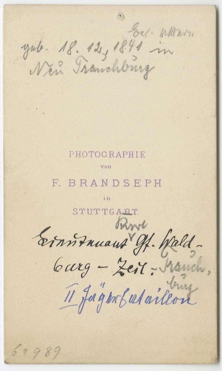 Waldburg-Zeil-Trauchburg, Karl von, Graf, Bild 2