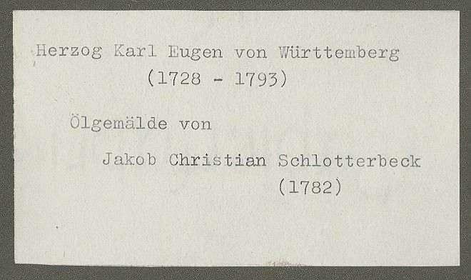Württemberg, Karl Eugen von, Herzog, Bild 2
