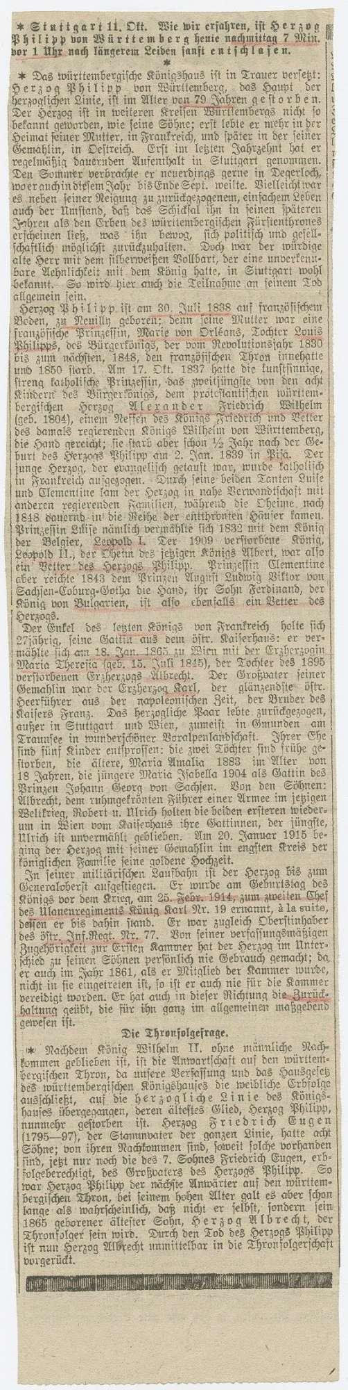 Württemberg, Philipp von, Herzog, Bild 2