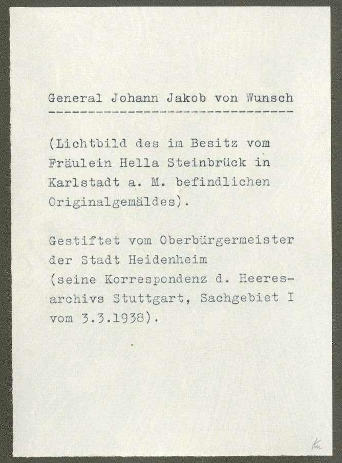 Wunsch, Johann Jakob von, Bild 2