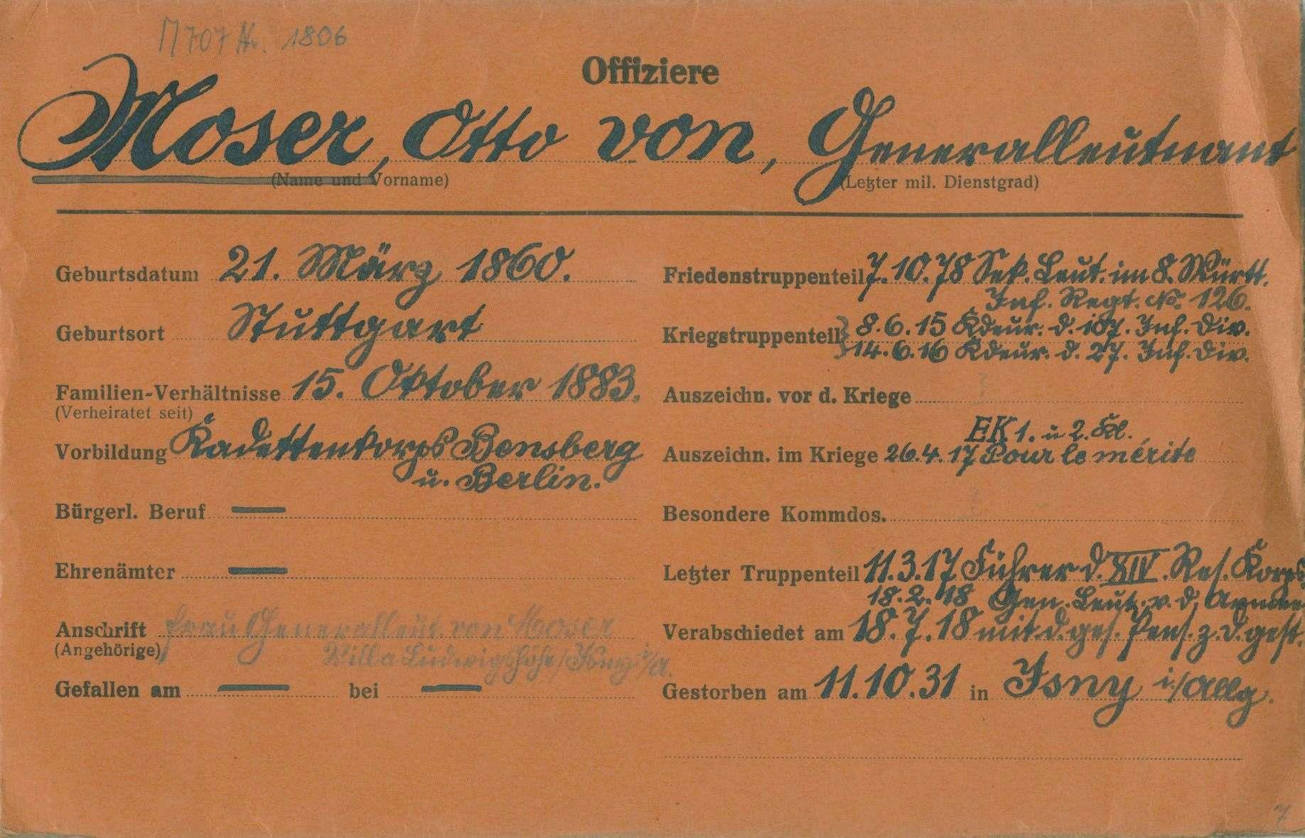 Moser, Otto von, Bild 1