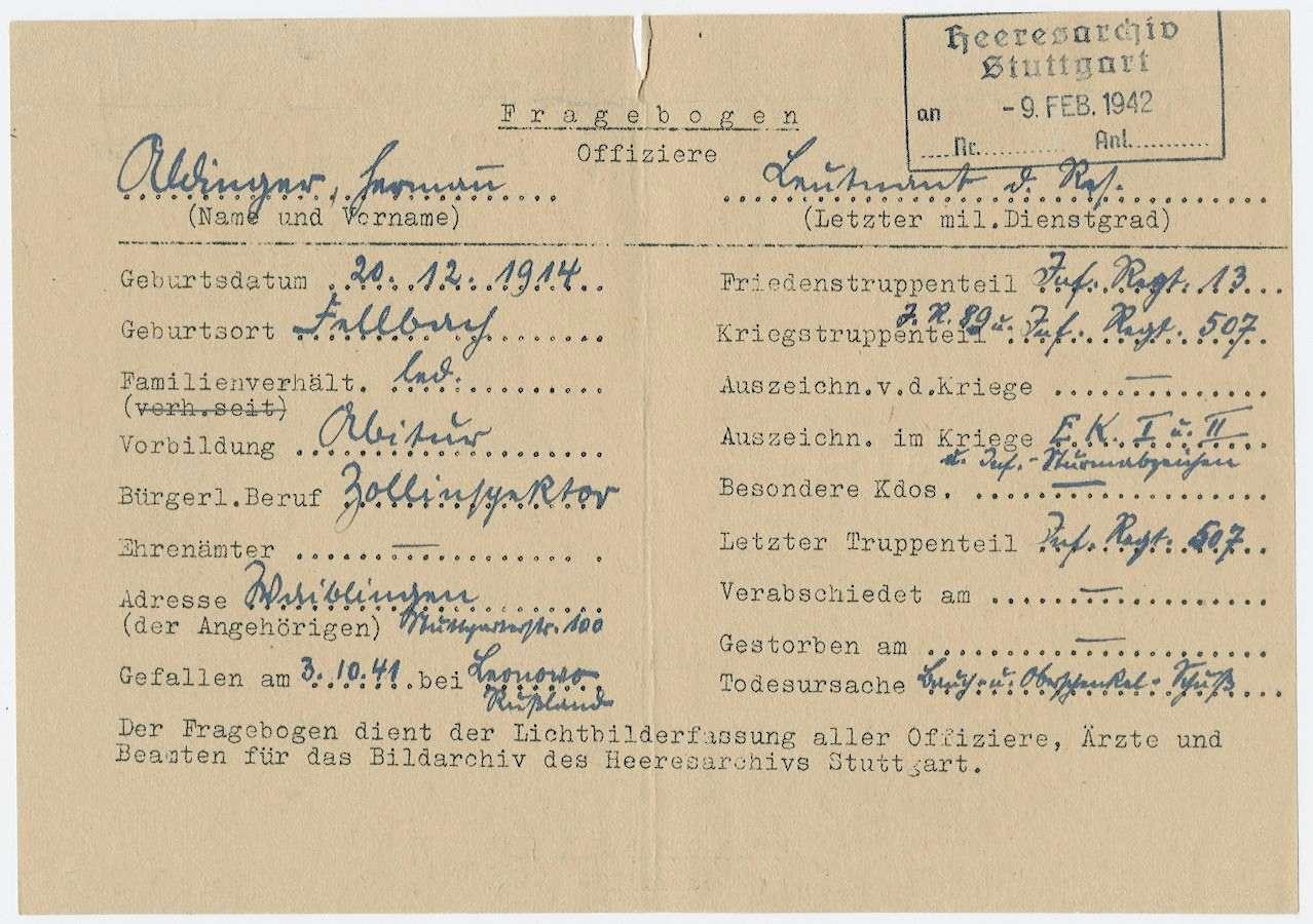Aldinger, Hermann, Bild 2