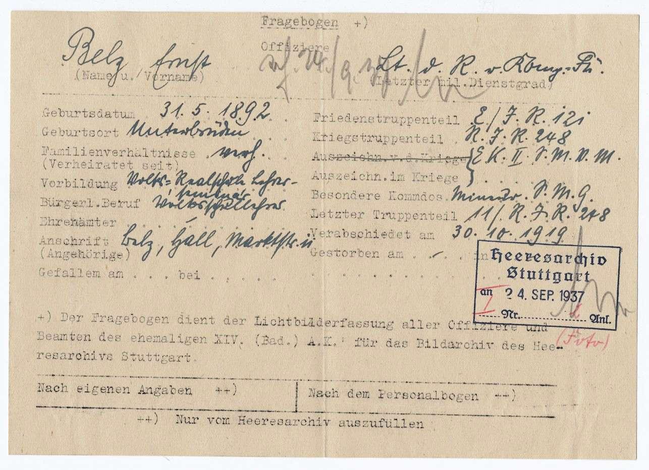 Belz, Ernst, Bild 3