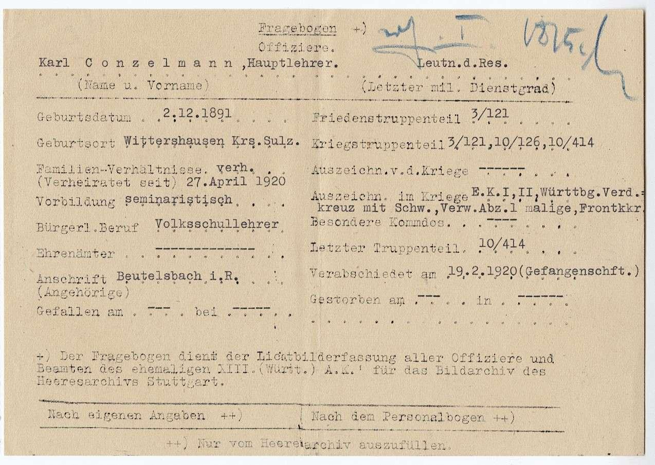 Conzelmann, Karl, Bild 2