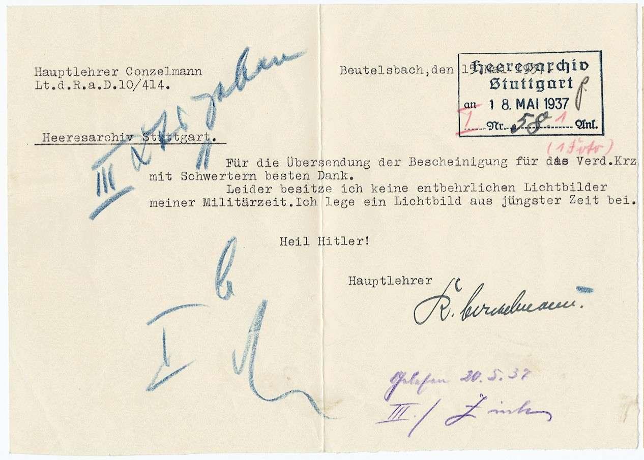 Conzelmann, Karl, Bild 3