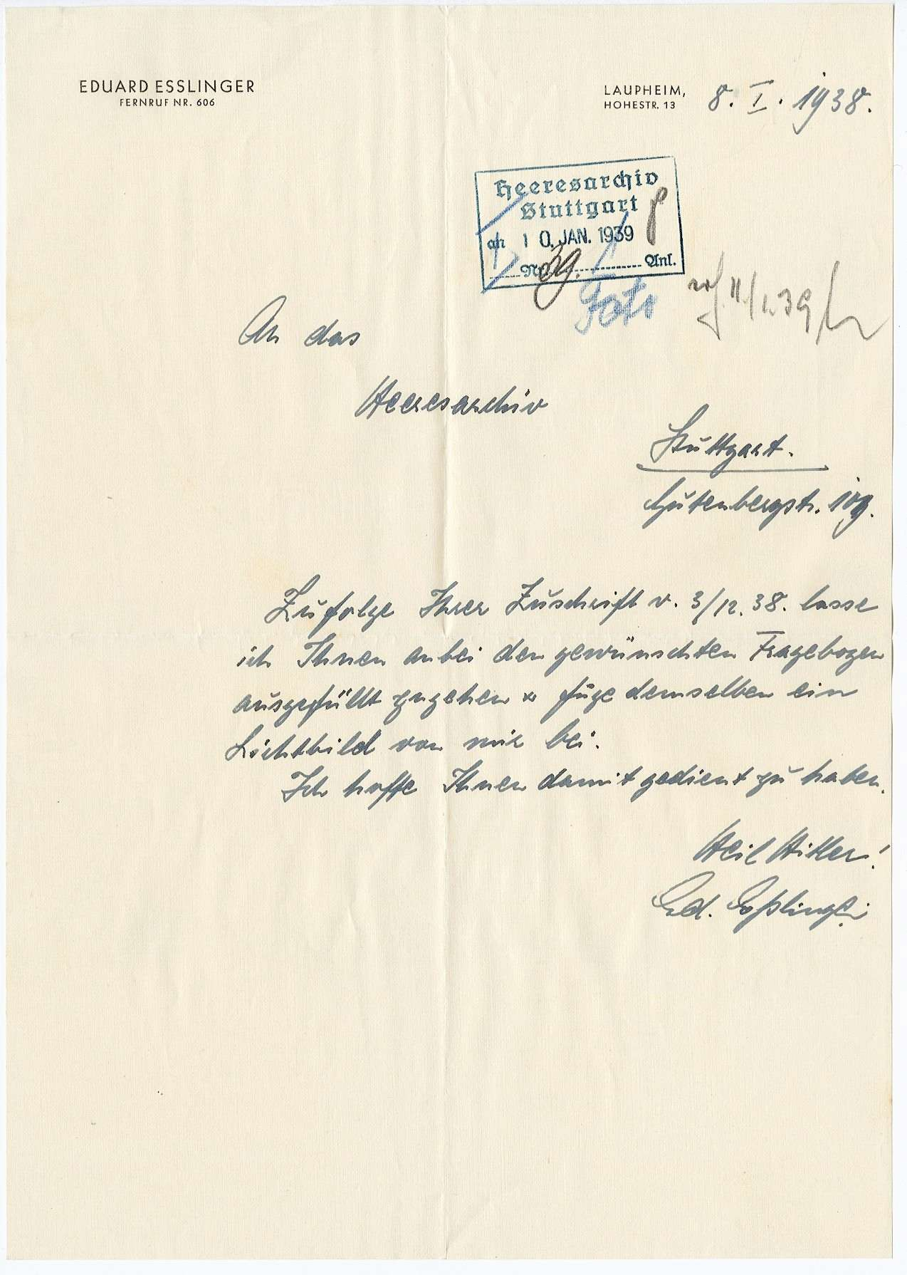 Eßlinger, Eduard, Bild 2