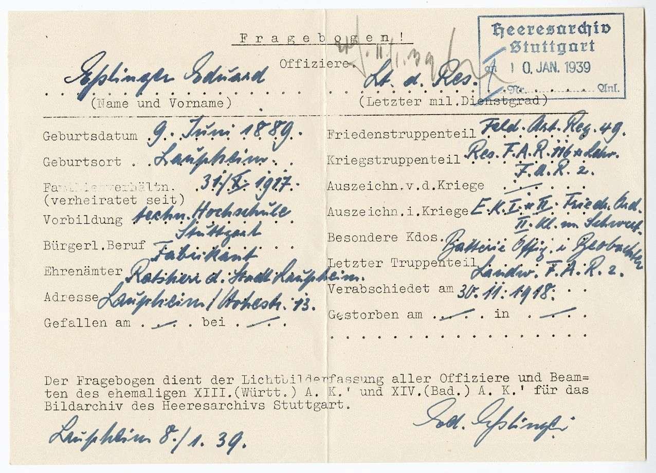 Eßlinger, Eduard, Bild 3