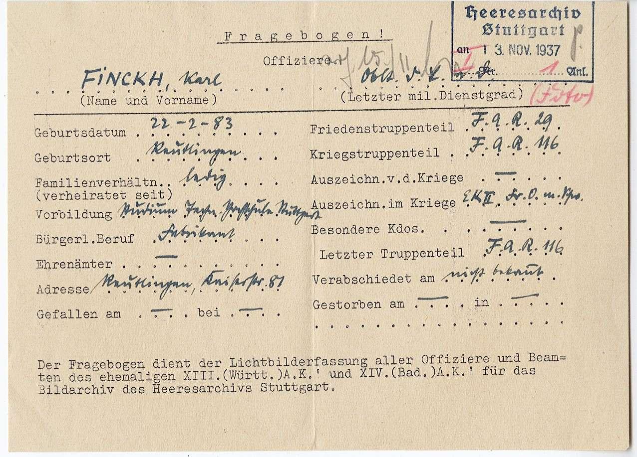 Finckh, Karl, Bild 2