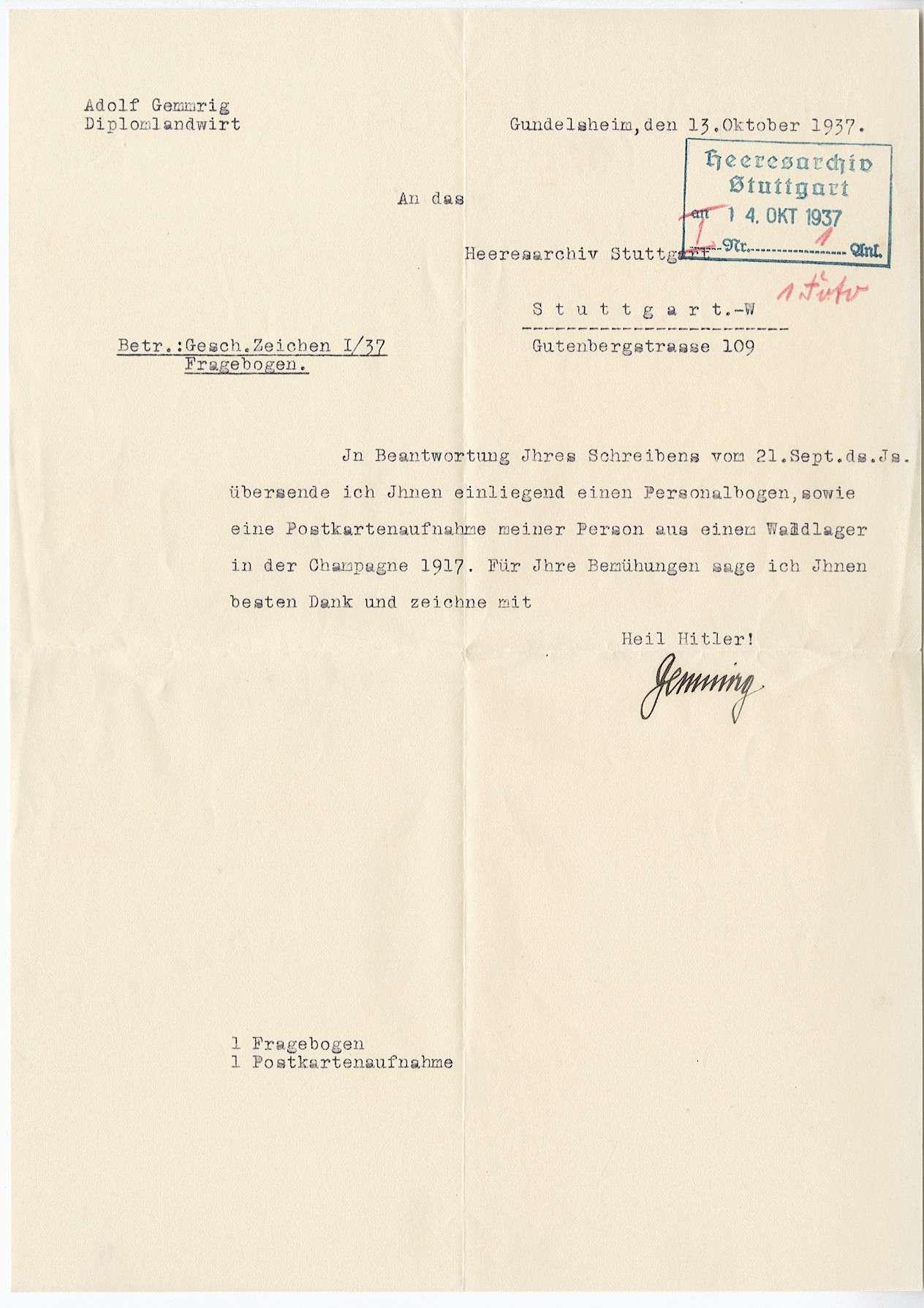 Gemmrig, Adolf, Bild 2