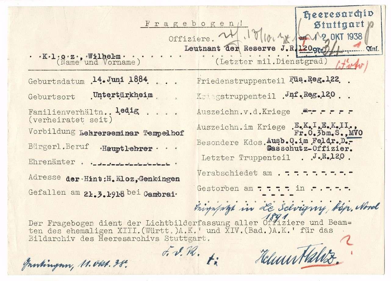 Kloz, Wilhelm, Bild 2
