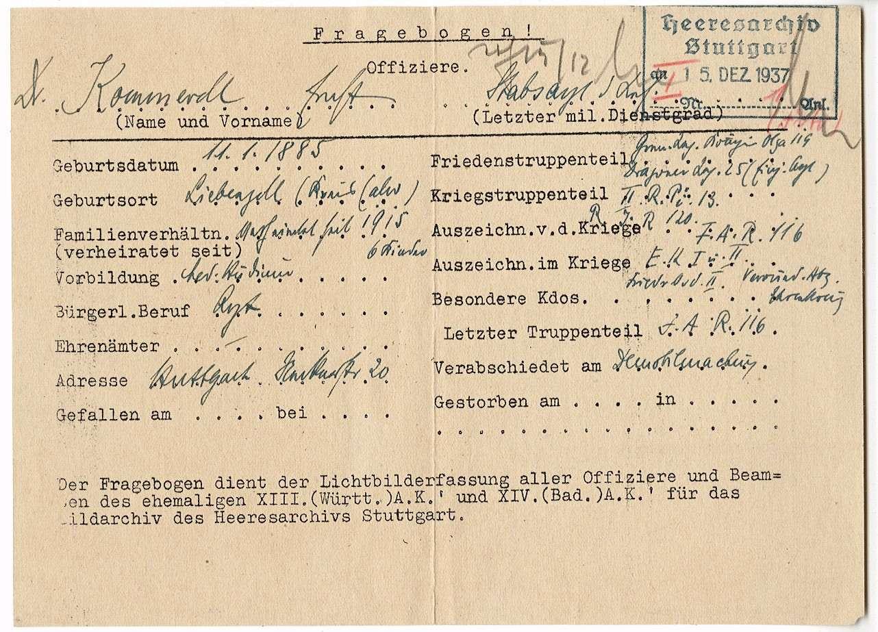 Kommerell, Ernst, Dr., Bild 2