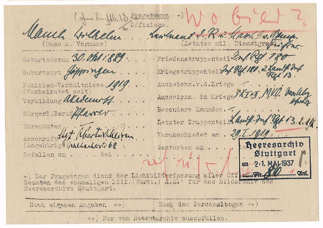 Mauch, Wilhelm, Bild 2