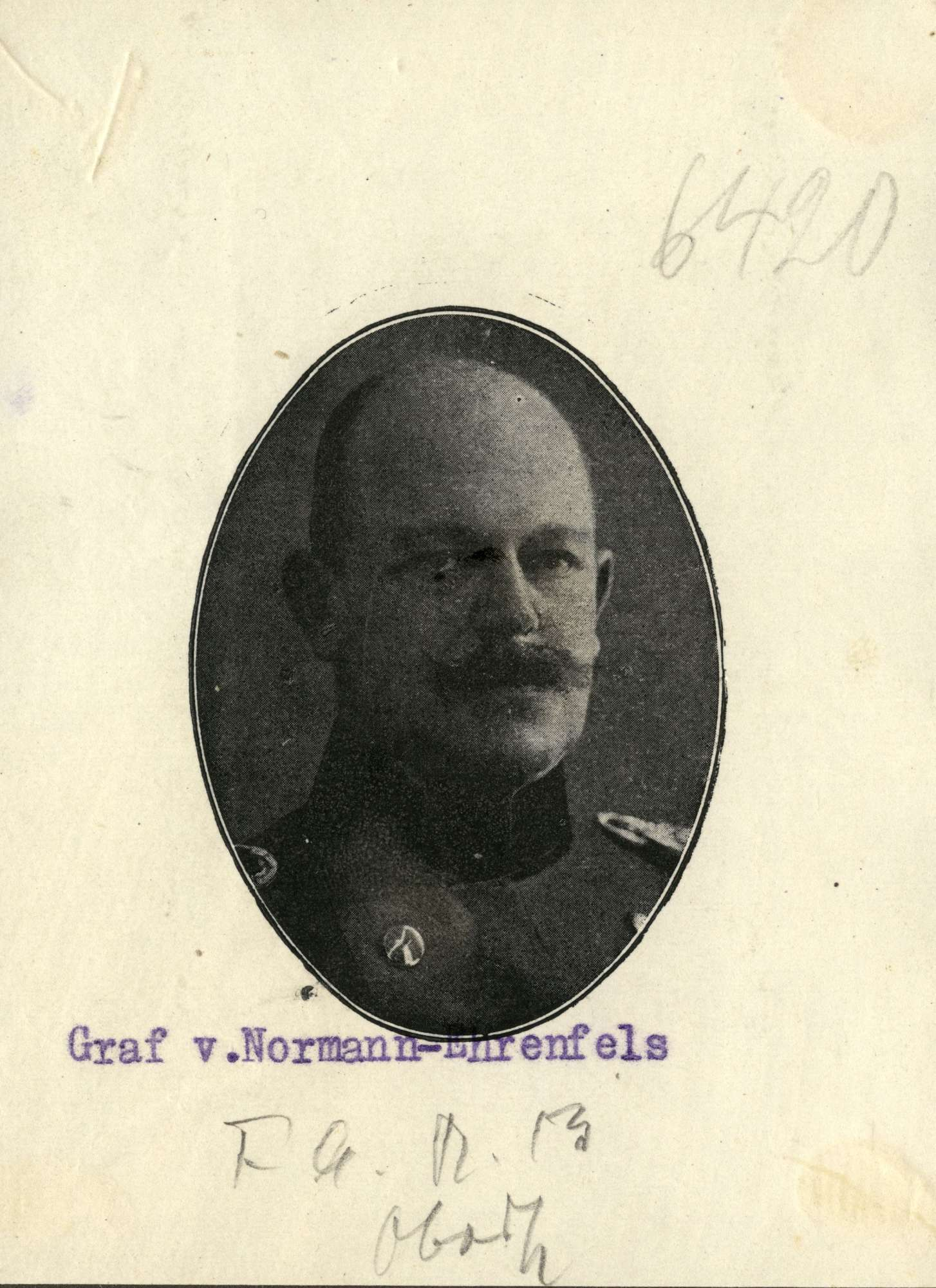 Normann-Ehrenfels, Karl von, Graf, Bild 2