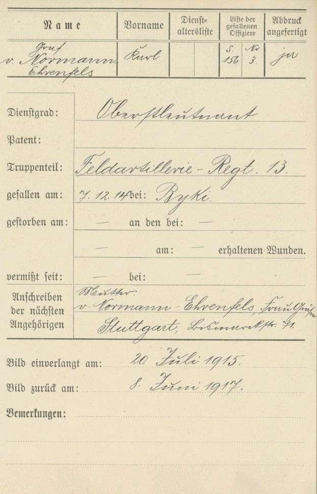 Normann-Ehrenfels, Karl von, Graf, Bild 3