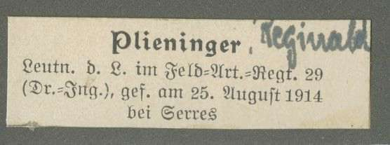 Plieninger, Reginald, Bild 2