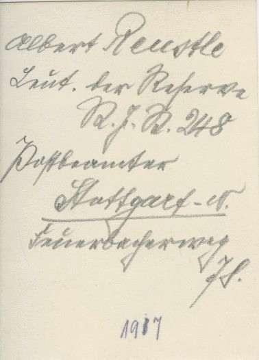 Reustle, Albert, Bild 2