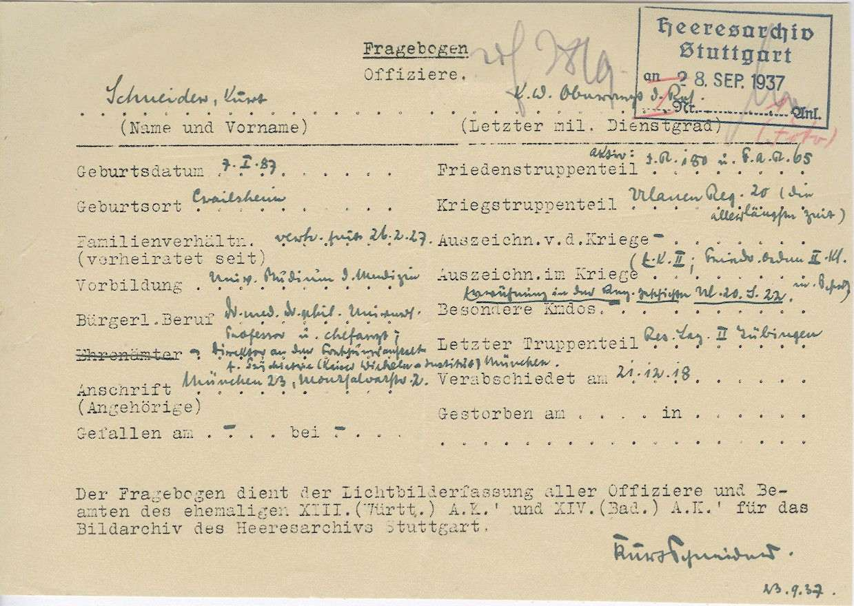Schneider, Kurt, Dr.med., Bild 2