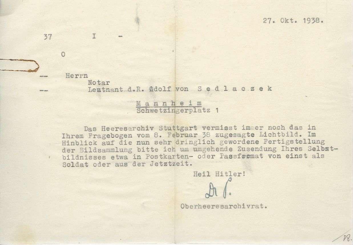Sedlackzek, Adolf von, Bild 3