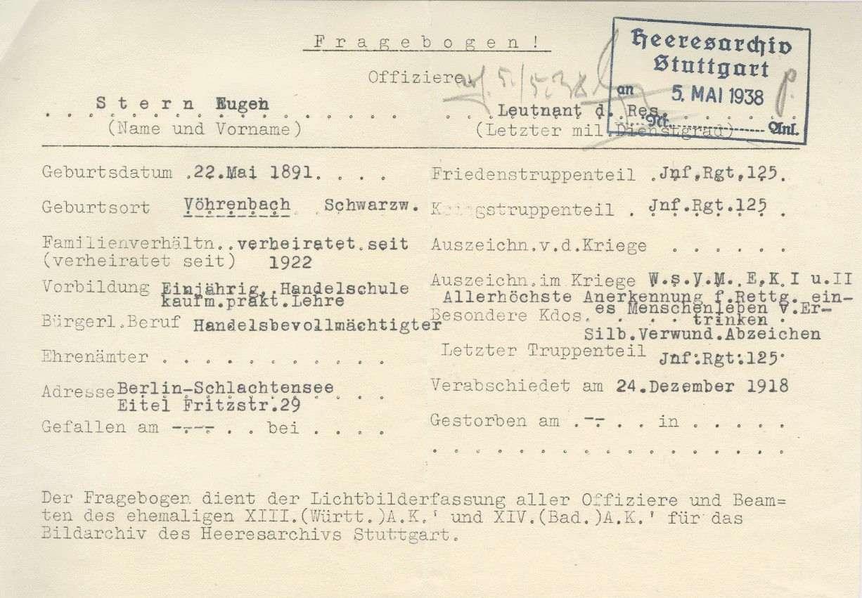 Stern, Eugen, Bild 2