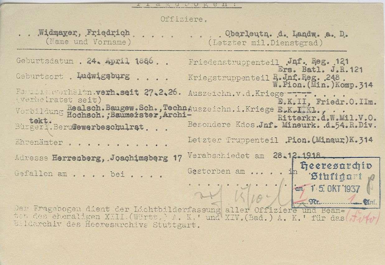 Widmayer, Friedrich, Bild 2