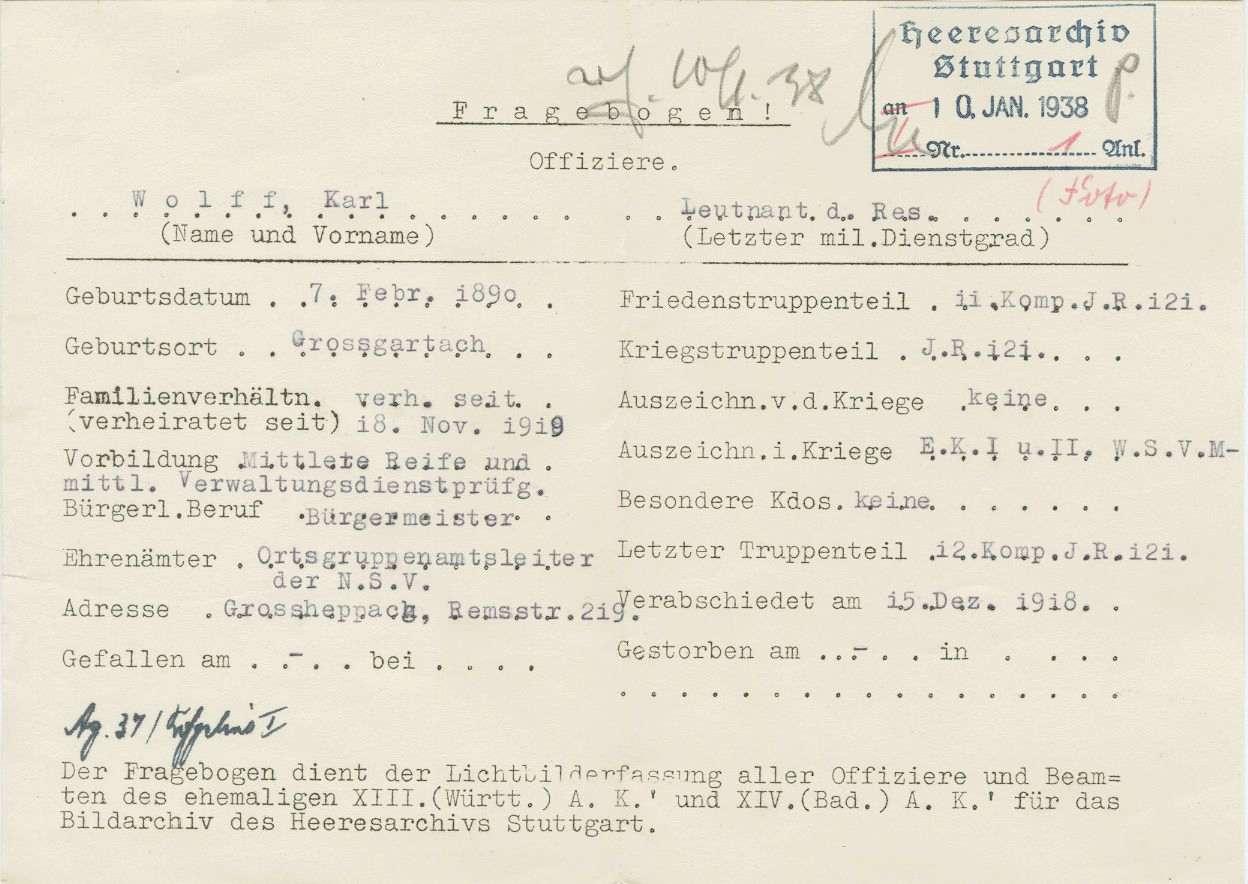 Wolff, Karl, Bild 2